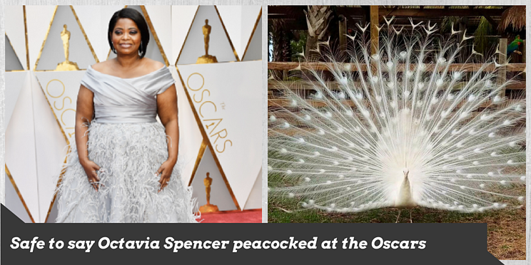 Octavia Specer peacocked in gray at the Oscars