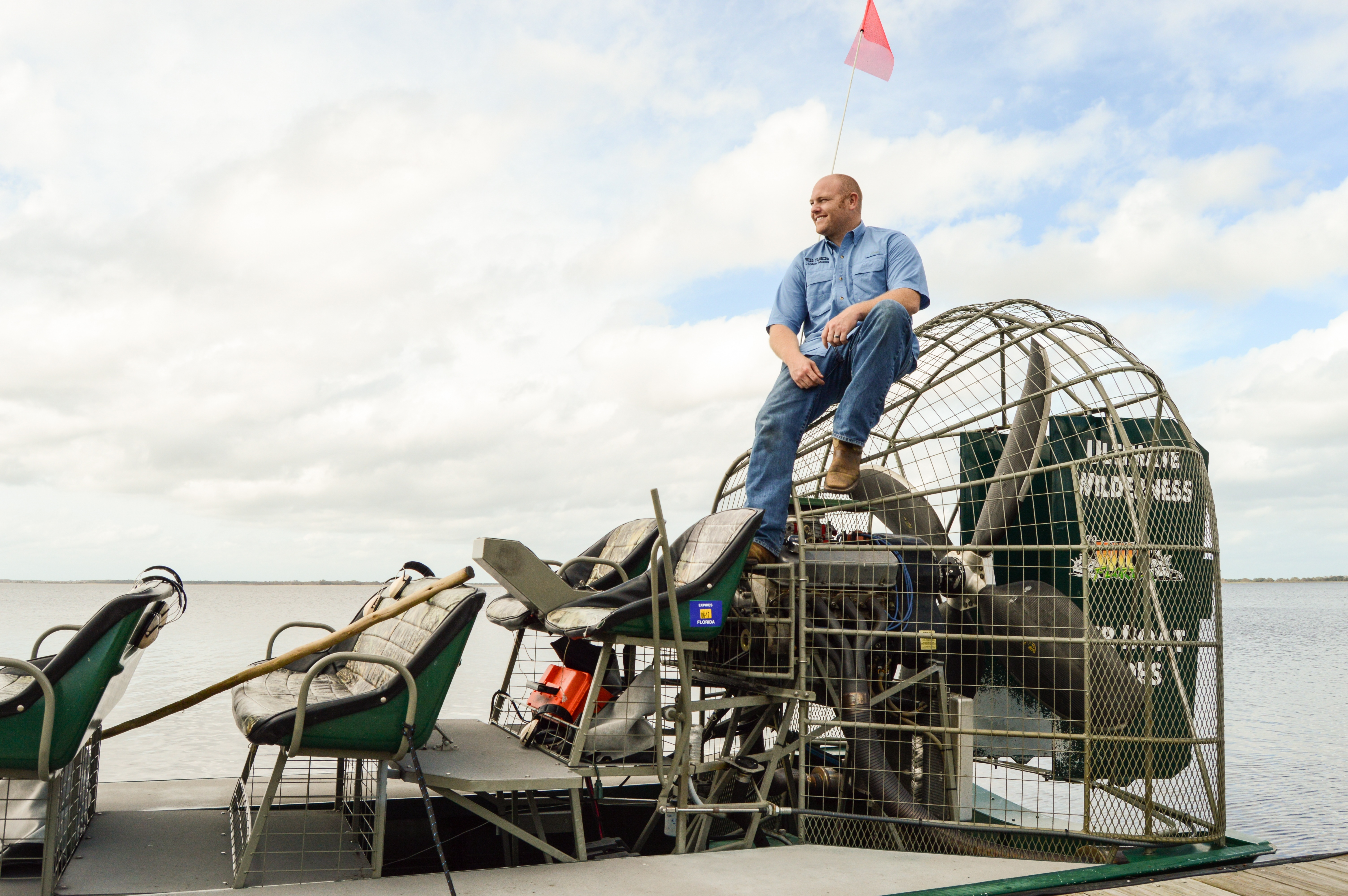 Wild Florida Airboat Captain in Kissimmee