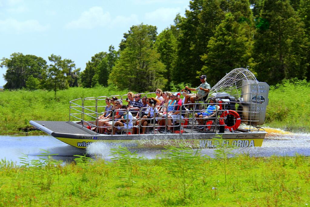 Orlando airboat ride during the day