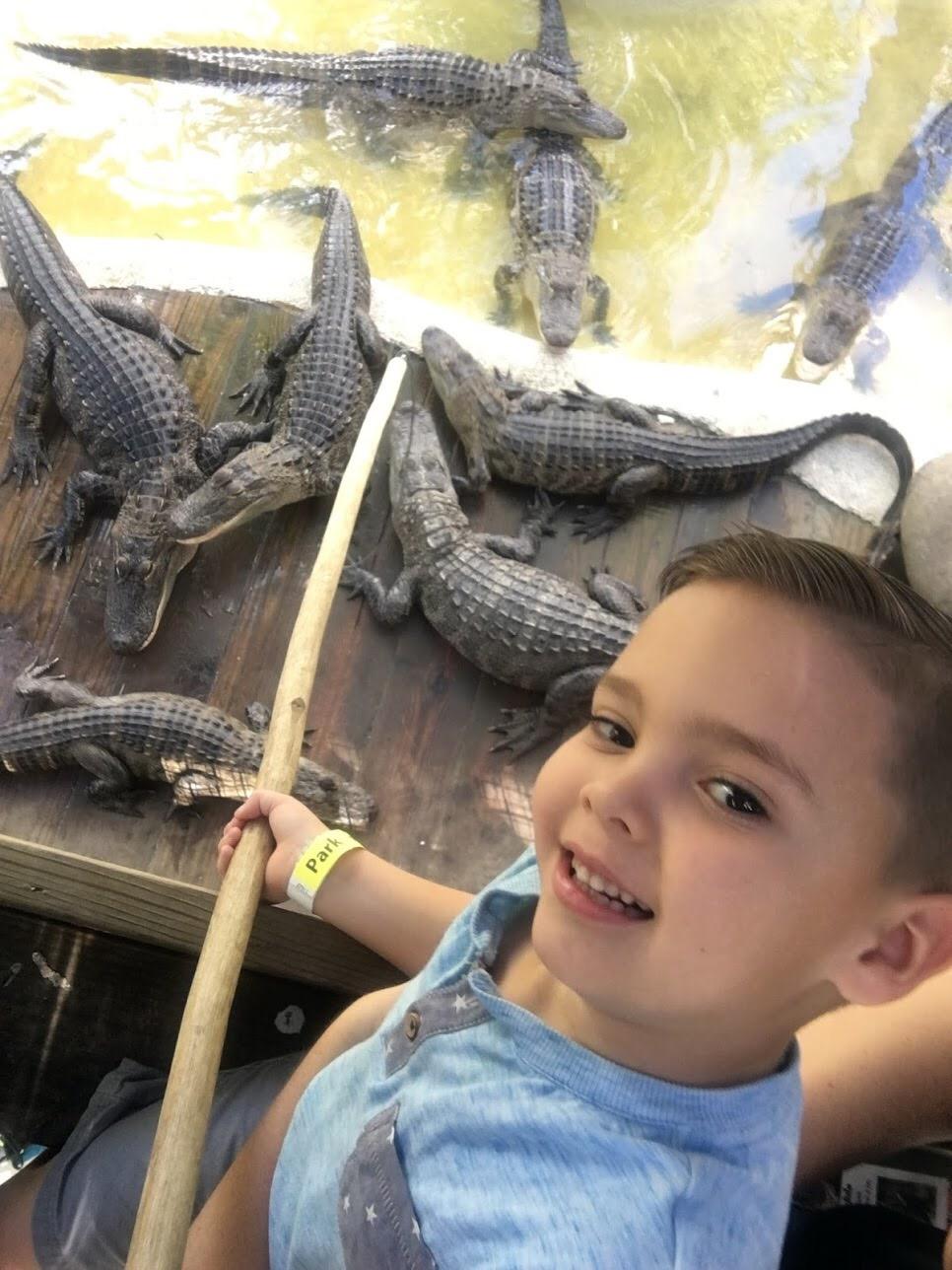 gator fishing at Wild Florida