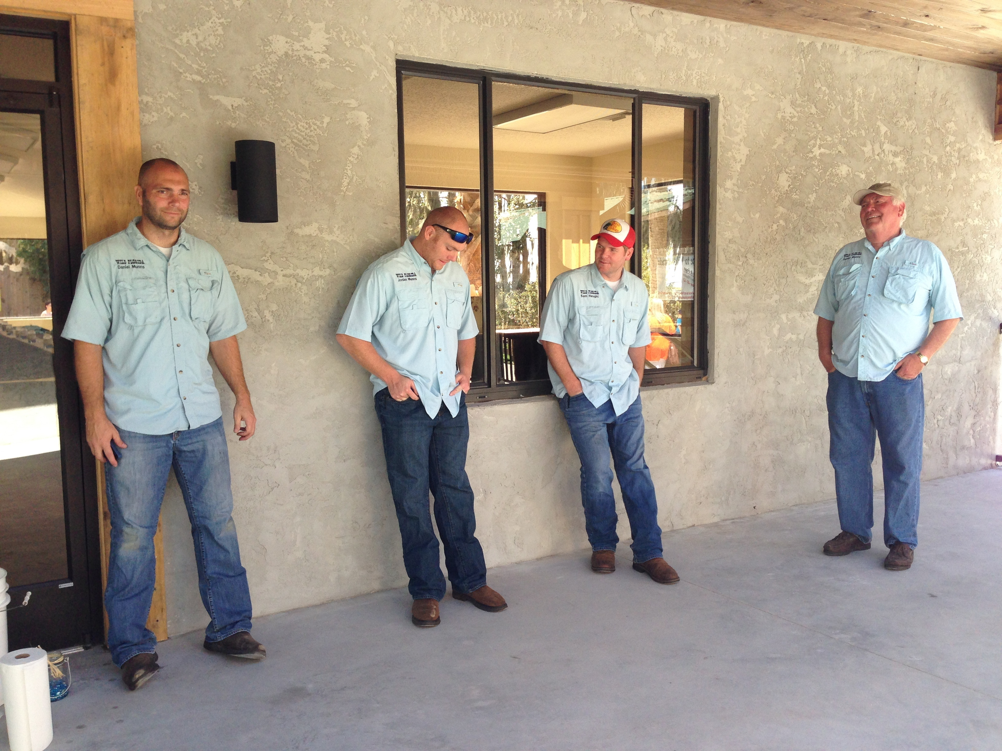 Munns Men hanging out at Wild Florida's Wildlife Park