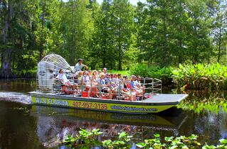 Wild Florida airboat in Central Florida Everglades