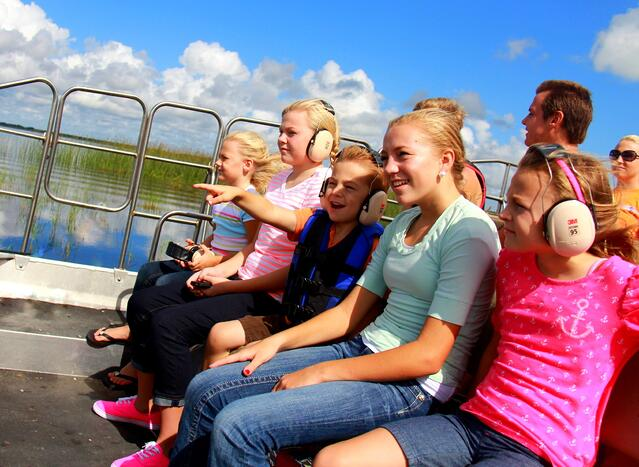 Inside central florida airboat ride at Wild Florida